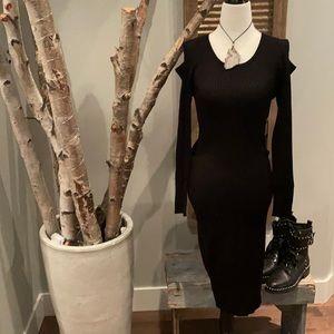 Say What cold shoulder little black dress